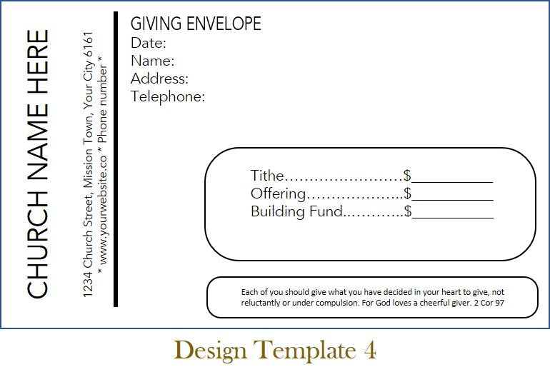 Click To View ENVELOPE SUGGESTIONS With Pricing Options For Print