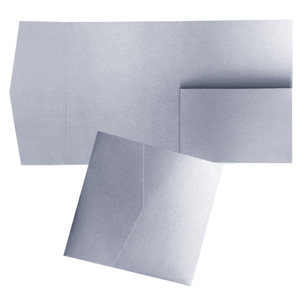 Pocketfold 127x127mm (SQUARE) Metallic & Coloured