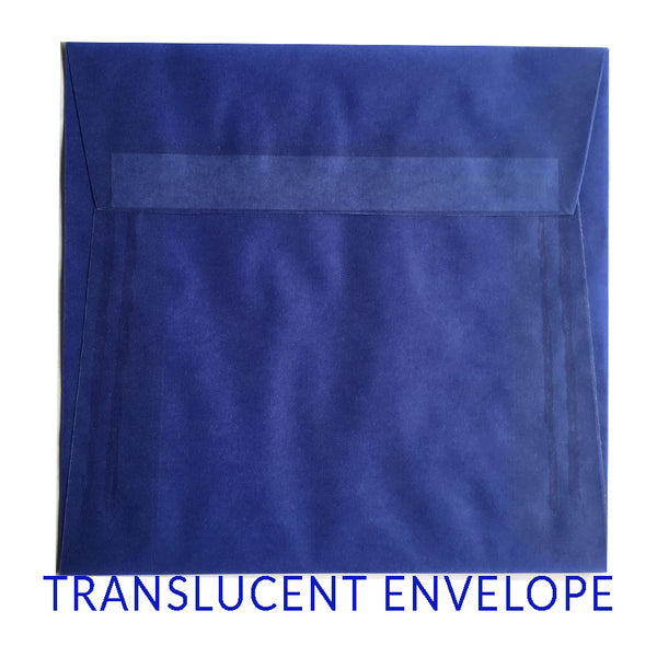 Translucent Blue (SQUARE) - clearance
