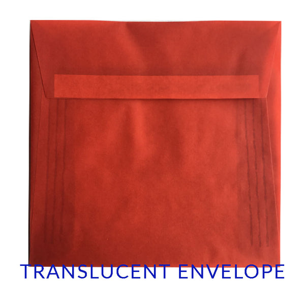 Translucent Red (SQUARE) - clearance