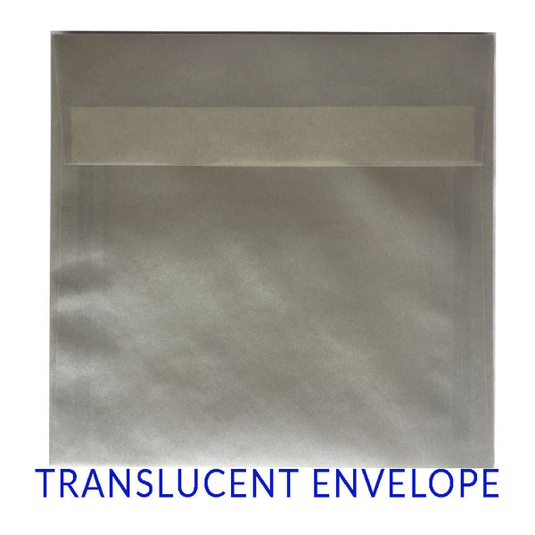 Translucent Silver (SQUARE) - clearance