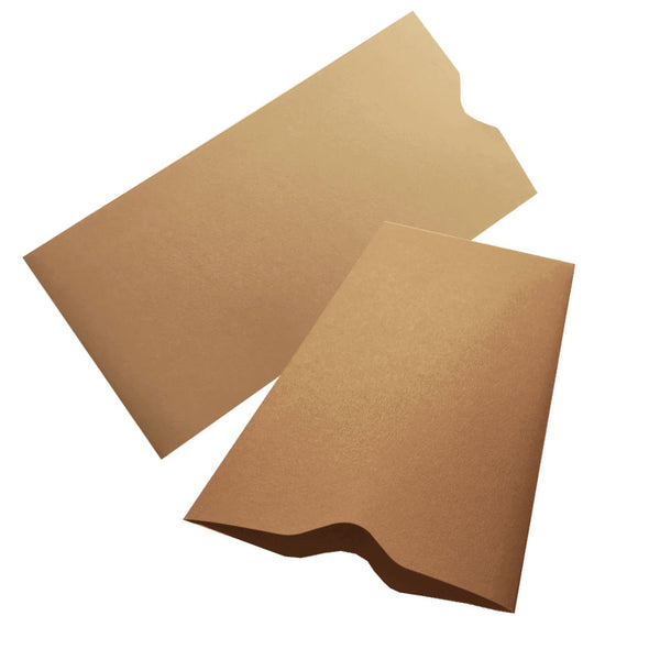 SLEEVE POCKET 100x193mm KRAFT clearance