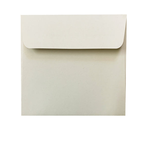 Barley - 120x120mm (SQUARE) - Recycled Off-white.