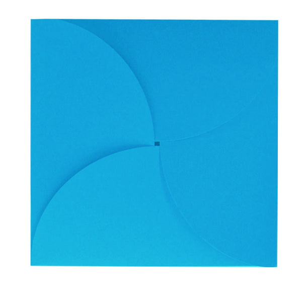 large 160mm square butterfly pale blue envelope