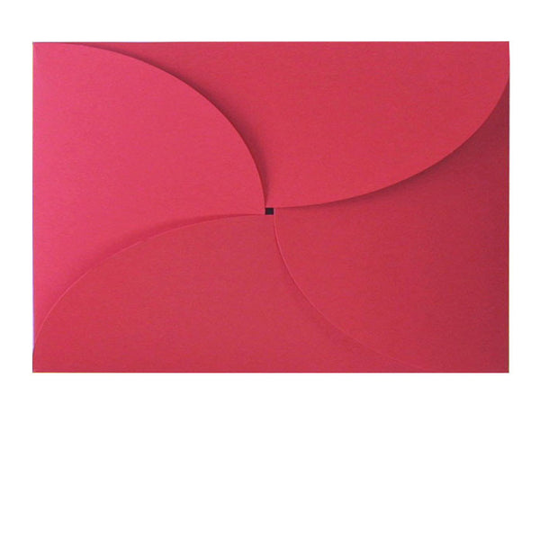 Red butterfly C6 envelope fits A6 insert