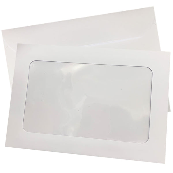 Pure White - 229x324mm FULL WINDOW - SALE 1/2 price