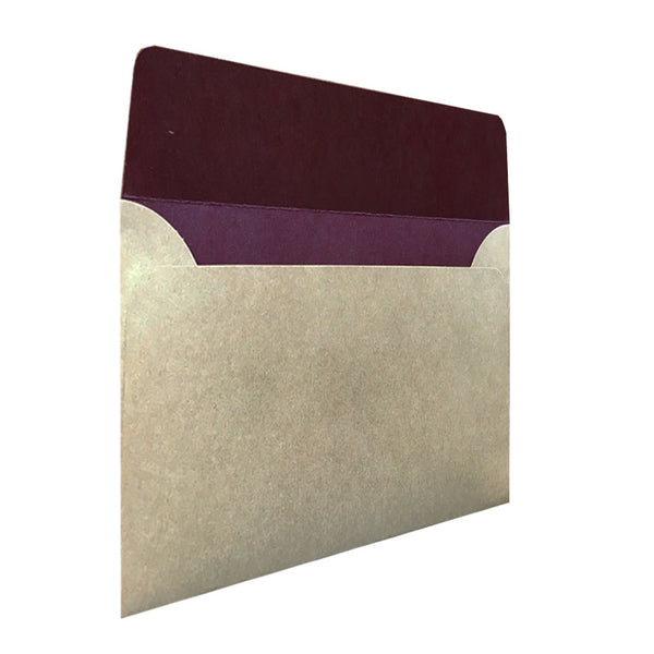 C5 natural kraft envelope with colour inside