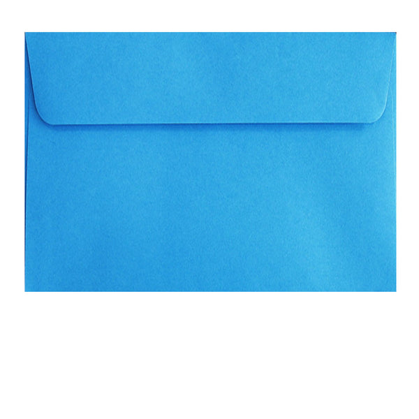 postcard size pale blue envelope