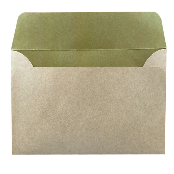 C6 natural kraft envelope with inside colouring