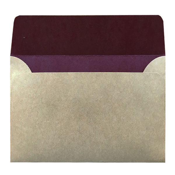 C6 envelope from Kraft with inside colouring