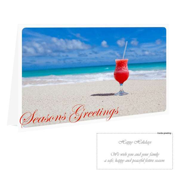 Christmas Card Pack - Summer Cocktail