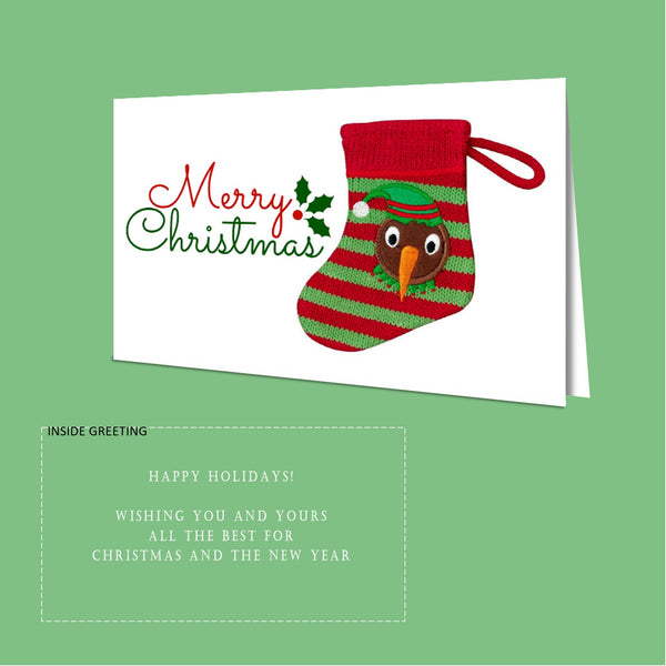 Christmas Card Pack - Kiwi Stocking