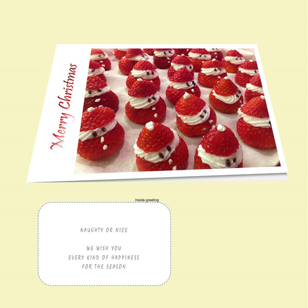 Christmas Card Pack - Strawberry Cream