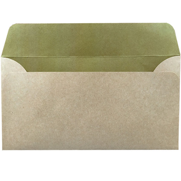 dle natural kraft envelope with inside colour