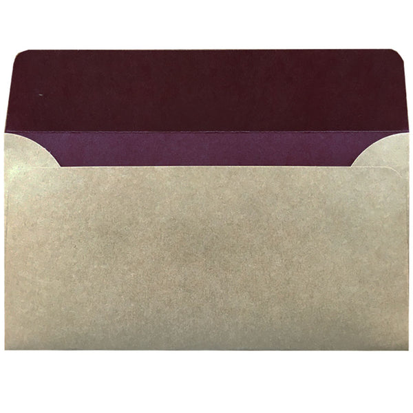 dle natural kraft envelope with colour inside