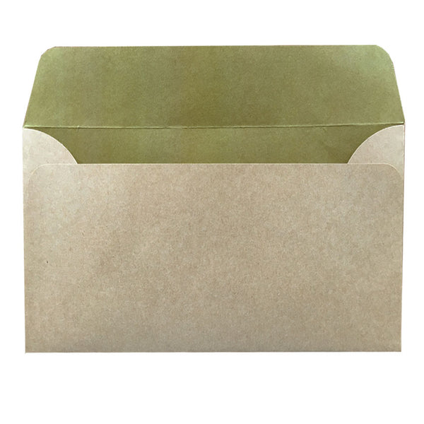 5x7 natural kraft envelope with inside colouring