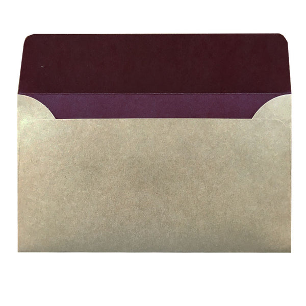 5X7 natural kraft envelope with colour inside