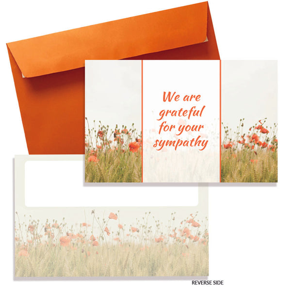 Wild Flower Sympathy Cards & Envelopes (10pkt)