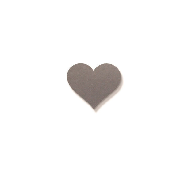 Silverfoil Heart Seal 25x30mm - SALE 1/2 price