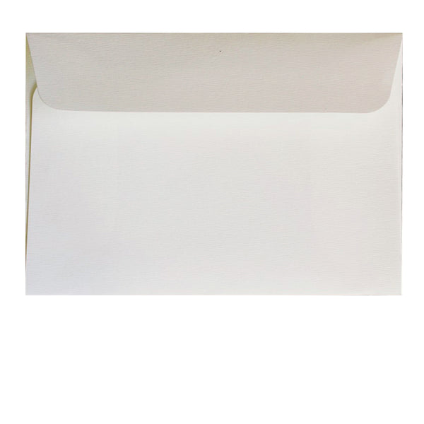 postcard size off-white textured wallet envelope