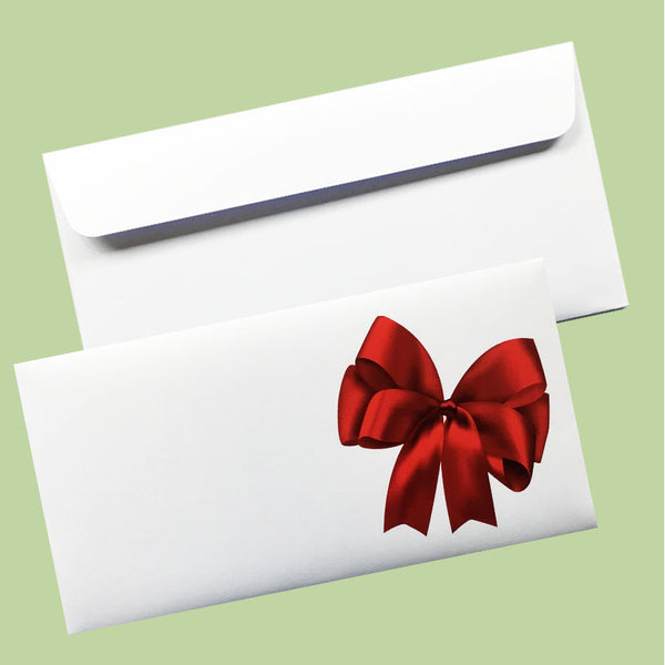 Envelopes 'Red Bow' - 114x225mm(DLE)