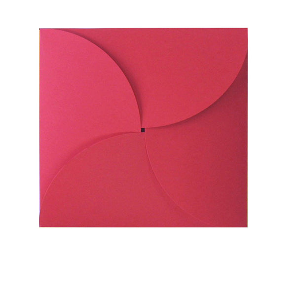 small red butterfly envelope
