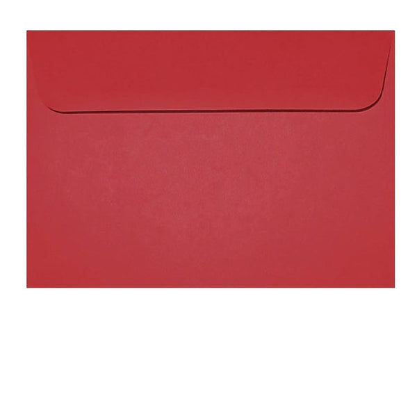 C6 red envelope fits A6 insert