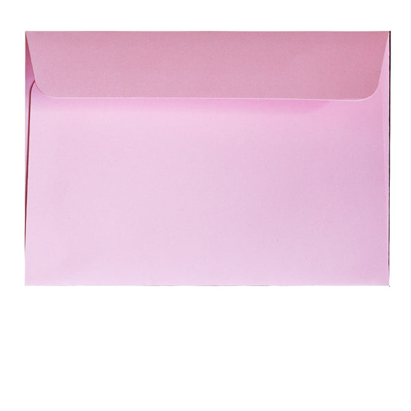 postcard size pastel pink envelopes