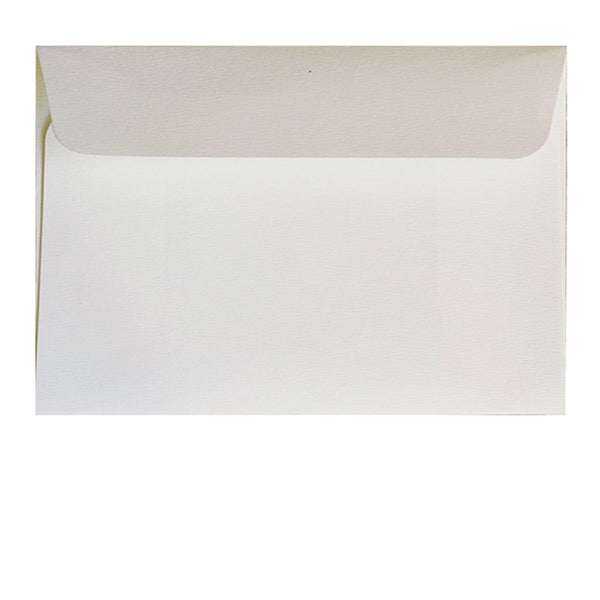 C6 textured off-white envelope. fits 4x6 inch