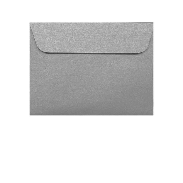 small C7 metallic silver envelope