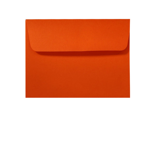 small C7 bright orange wallet envelope