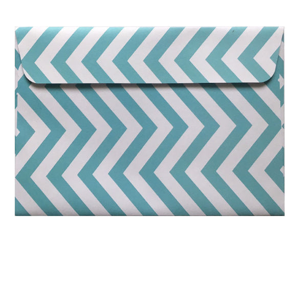 Chevron teal patterned envelope