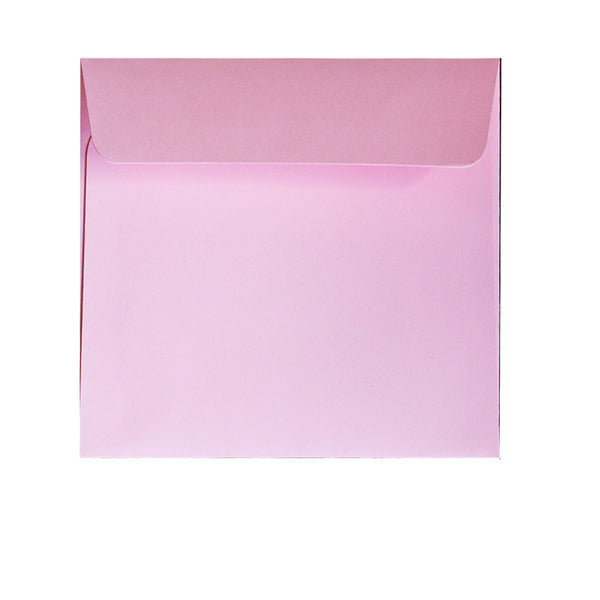 small square pastel pink envelope