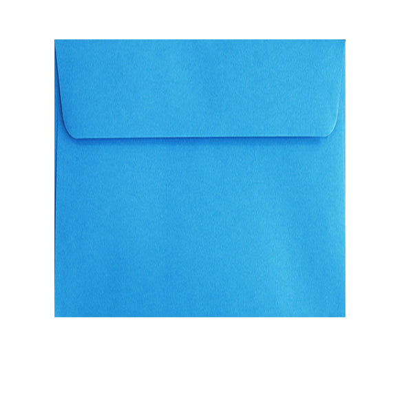 small pale blue square envelopes