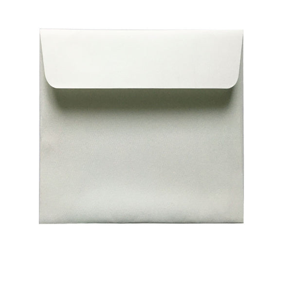 small square white textured envelope