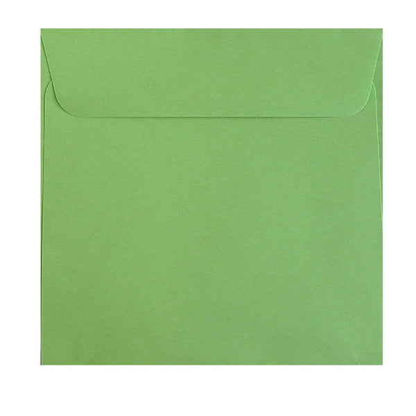 square bright green envelope