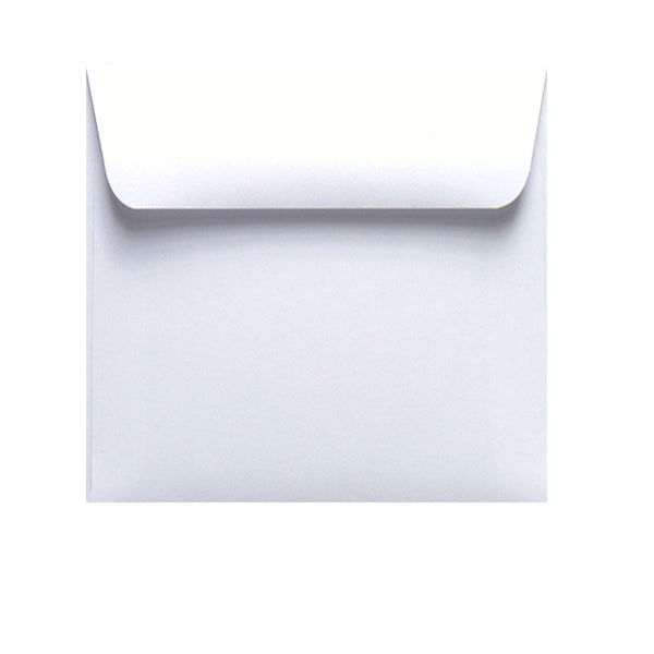 small white square envelope
