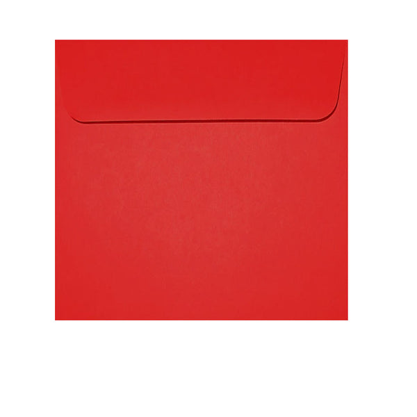 small square bright red wallet envelope