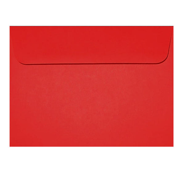 postcard size bright red wallet envelope