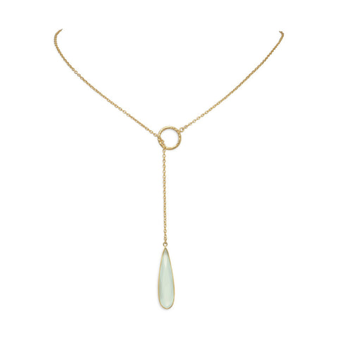 Chalcedony Lariat Necklace