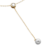 14 Karat Gold Plated Lariat Necklace