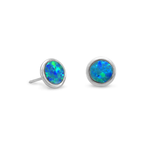 Sea Moon Stud Earrings