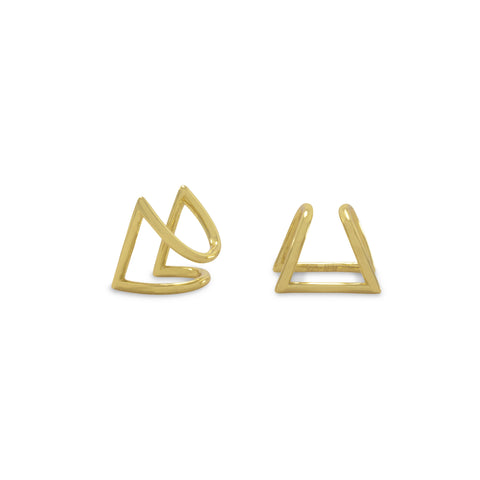 Triangle squeeze on earrings