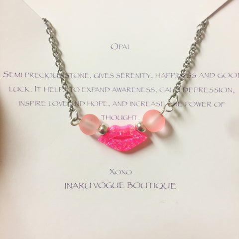Kiss Me Baby Opal Necklace