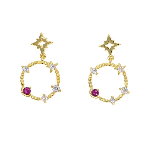 Milena Stardust Drop Earrings