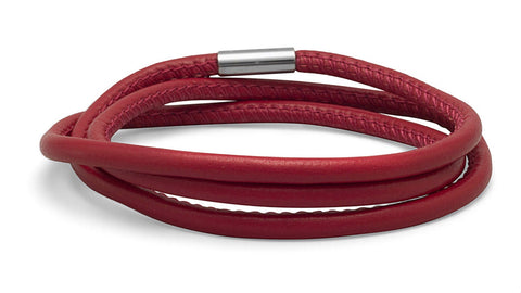 Triple Wrap Apple Leather Bracelet