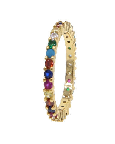 Eternity Band Ring with Rainbow Cz