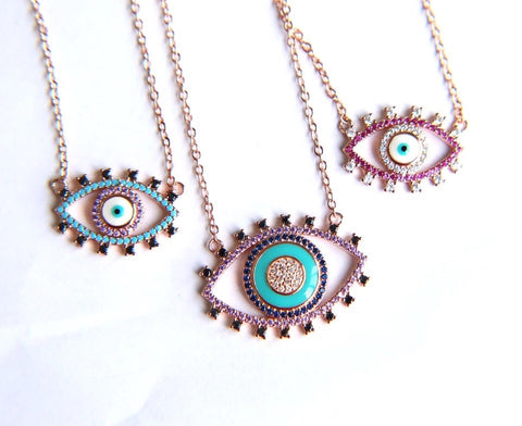 Colorful Turkish Evil Eye Necklace