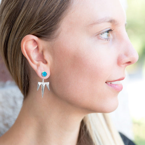 Mix&Match Opal Spike Earrings