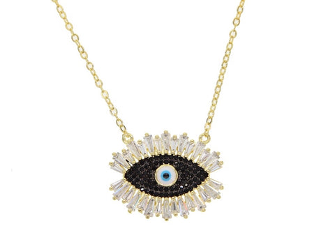 Aviv Cz Evil Eye Pendant Necklace